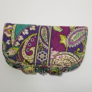 Vera Bradley Paisley Green Wallet Clutch